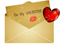 Valentine red heart card Stock Photos