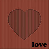 Valentine red heart cardboard cut out Stock Images