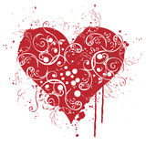 Valentine, red, Heart, love. A red beautiful heart with carving...lovely heart Stock Image