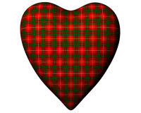 Valentine Red Heart Scottish Bruce Tartan Textured Royalty Free Stock Photos