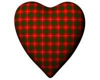 Valentine Red Heart Scottish Bruce Tartan Textured Royalty Free Stock Photos
