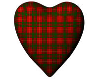 Valentine Red Heart Scottish Cameron Tartan Royalty Free Stock Photo