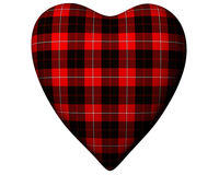 Valentine Red Heart Scottish Erskine Tartan Stock Photography