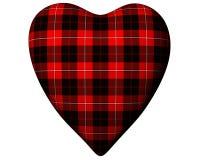 Valentine Red Heart Scottish Erskine Tartan Stock Photography
