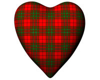 Valentine Red Heart Scottish Scott Tartan Textured Stock Photo
