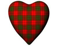 Valentine Red Heart Scottish Scott Tartan Textured Stock Photo