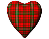 Valentine Red Heart Scottish Scott Tartan Textured Royalty Free Stock Photography