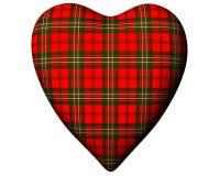 Valentine Red Heart Scottish Scott Tartan Textured Royalty Free Stock Photography