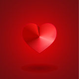 Valentine red heart Royalty Free Stock Images