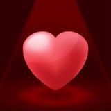 Valentine Red Heart Spotlight Illustration vektor Arkivfoto