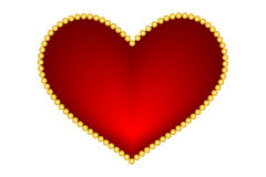Valentine red  hearts Royalty Free Stock Image