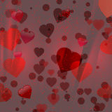 Valentine red hearts background Stock Photo