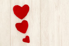 Valentine red hearts Stock Images