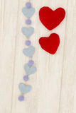 Valentine red hearts Royalty Free Stock Photo