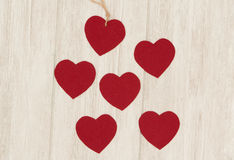 Valentine red hearts Stock Photography