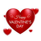 Valentine red hearts Stock Photos