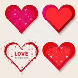 Valentine red hearts.Vector illustration EPS10 Royalty Free Stock Photos