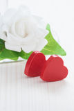 Valentine Red Hearts royalty free stock photos