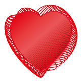 Valentine Red love heats Stock Image