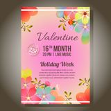 Valentine red party ornate with soft flower. Colorful valentine red party ornate with soft flower royalty free illustration