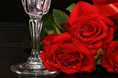 Valentine red rose Stock Photography