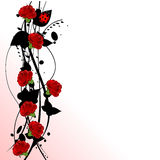 Valentine red roses. Illustration background Stock Images