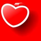 Valentine red sticker Royalty Free Stock Image