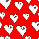 Valentine repetition. Pop-art valentine background in red Royalty Free Stock Photo