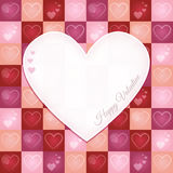 Valentine Retro Greeting Card with Heart Pattern Royalty Free Stock Photo