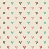 Valentine retro seamless hearts pattern Stock Images