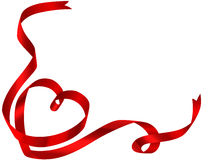 Valentine ribbon Royalty Free Stock Image