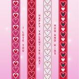 Valentine ribbon scrapbook 1 Royalty Free Stock Photography