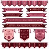 Valentine ribbons Stock Photo