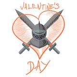 Valentine-ridder Stock Afbeeldingen