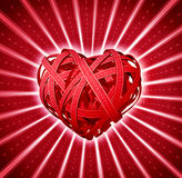 Valentine Road To The Heart Stock Photo