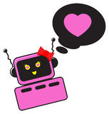 Valentine robot Royalty Free Stock Images