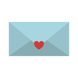 valentine romantic envelopes with heart sticker Royalty Free Stock Image