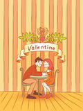 Valentine romantic kiss  Royalty Free Stock Photos