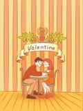 Valentine romantic kiss  Royalty Free Stock Photos