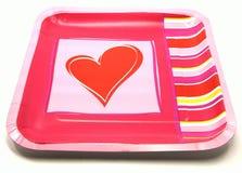 Valentine Romantic Plate Stock Photo