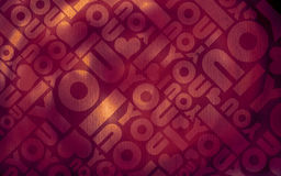 Valentine romantic typographic texture Royalty Free Stock Image