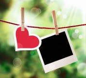 Valentine romantique ou carte d'anniversaire Images libres de droits