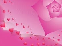 Valentine rose illustration stock