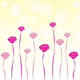 Valentine Rose Background. Gradient background with pink roses Stock Photos