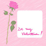 Valentine rose card Stock Photos