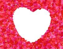 Valentine rose heart. Vector illustration Stock Photography