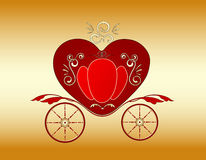 Valentine royal carriage Royalty Free Stock Photography