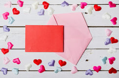 Valentine& x27; s卡片的天背景 库存图片