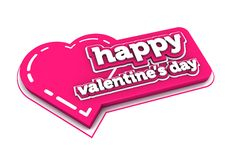 Valentine's. Day icon on white background Royalty Free Stock Images