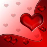 Valentine's background. Illustration Valentine's day, love's background Royalty Free Stock Photo